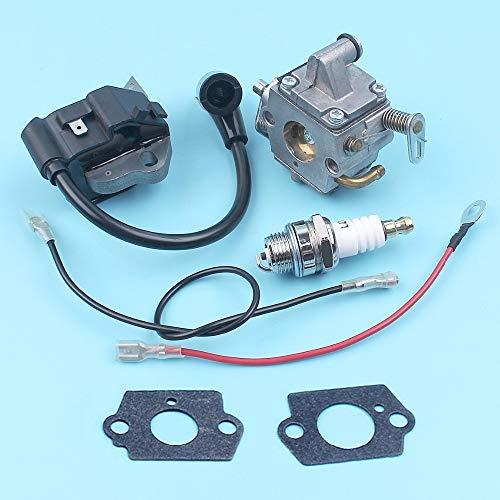 Haoyueda Bobina de encendido Módulo carburador Bujía Kit Compatible con STIHL 017 018 MS170 MS180 MS 170 180 motosierra de piezas de repuesto Carb