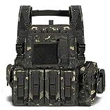 vAv YAKEDA Tactical Vest Military Vest for Men (Black cp)