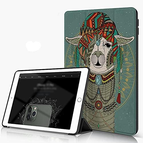 She Charm Funda para iPad 9.7 para iPad Pro 9.7 Pulgadas 2016,Coloridos Sombreros con Llama con Accesorios Pendientes Collar Abstracto Animal,Incluye Soporte magnético y Funda para Dormir/Despertar