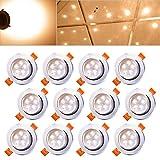Hengda 12X 5W LED Einbauleuchte Aluminium für den Wohnbereich Beleuchtung Dimmbar Warmweiß IP44 mit Schwenkbar   Einbau Strahler   Einbaulampen  