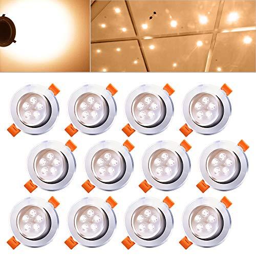 Hengda® 12 x 5W LED Spot Warmweiß Decken Einbauleuchte Leuchte Einbau Strahler Set Lampen 85-265V AC Schlafzimmer