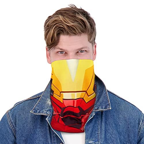 Concept One Marvel Iron Man Multi-Purpose Neck Gaiter Scarf Bandana, Red, One Size