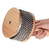 Kalaok Holz Cabasa Percussion Musikinstrument Metall Perlen Kette & Zylinder