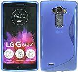 ENERGMiX Silikon Hülle kompatibel mit LG G Flex 2 Tasche Bumper Silikonschale Silikonschutz Case Gummi Schutzhülle Zubehör in Blau