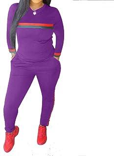 Fantasy Closet Women s 2 Pieces Outfits Long Sleeve Top and Long Pants  Sweatsuits Set Tracksuits 1681ea89609e