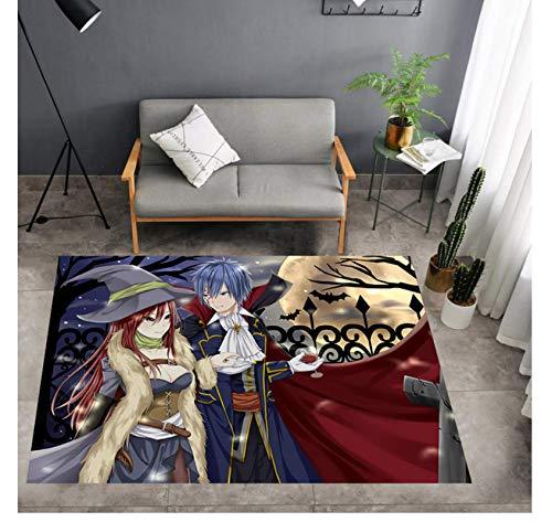 Hiemycop Alfombra De Dibujos Animados Fairy Tail Alfombras De Área Alfombra De Piso Felpudo Habitación Dormitorio Cocina Sala De Estar Habitación Infantil Alfombra Antideslizante Regalo 160X230Cm