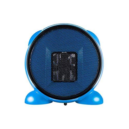 DFR-lumb Calefactor eléctrico, calefactor de espacio de cerámica PTC, portátil, calefactor de calefacción 2S, termostato personal, protección contra sobreponer para el hogar y la oficina, color azul