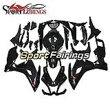 SPMOTOオートバイの外装パーツフェアリングは アプリリアに適用されますRS125 / RS4 50 2012 2013 2014 RS4 125 2012 2013 ABSプラスチックインジェクションスポーツバイクカウル-光沢のあるピュアブラック