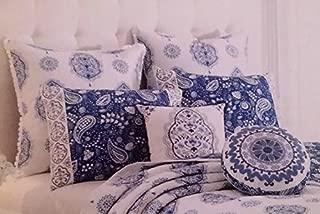 Dena Home Solange Standard Pillow Sham White/ Indigo by Dena Home