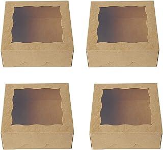 Nesloonp Cupcake Boîte 30 Pièces Boîte à Gâteau Muffin avec Fenêtre,Boîtes à Gâteaux Mariage,Emballage de Pâtisserie,Boîte...