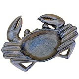 The Crabby Nook Crab Ashtray Cast Iron for Outdoor Use Nautical Decor