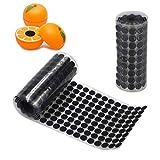 Jinhuaxin adesivo tondo autoadesivo punto 10 mm, 1134 pezzi/567 paia di nastro adesivo posteriore forte per fai da te per pavimenti vetri indumenti (nero)