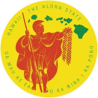Pacifica Island Art Decal Car Bumper Sticker - Hawaii The Aloha State