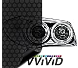 VViViD Extra-Wide Headlight Taillight Vinyl Wet Tint Wrap 16 Inch x 60 Inch Roll (Hex+ Dark Smoke)