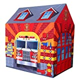 TEMSON Jumbo Size Extremely Light Weight , Water Proof Kids Play Tent House for 10 Year Old Girls and Boys (Fire Station)