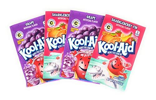 Kool-Aid sabor a fresa y uva 4 paquetes