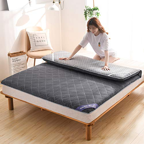 LXSHMF Sleeping Pad Breathable Tatami Mattress Soft Floor Mat Not-slip Mattress Topper Soft Japanese Futon Single Double Dormitory Mattresses B 90x190cm(35x75inch)