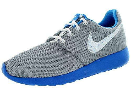 Nike Rosherun GS 599728-019, Baskets Basses Mixte Enfant, Gris-Gris/Azul, 37.5 EU