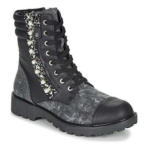 Desigual Combat Pearl Bottines/Boots Femmes Noir - 37 - Boots