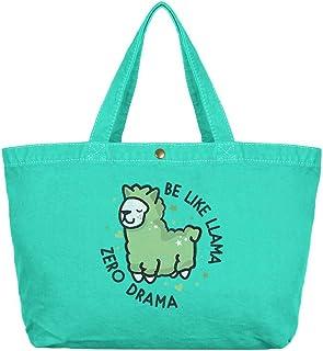 Be Like Llama Zero Drama Seafoam Canvas Shopper Bag