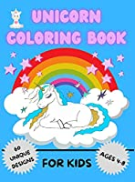 Unicorn Coloring Book for Kids: Amazing Coloring Book For Kids Ages 4-8 Activity Book with 60 Adorable Designs for Boys and Girls