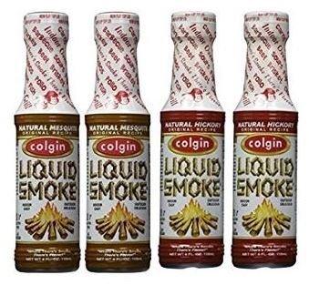 Colgin Gourmet Liquid Smoke - Natural Mesquite (2 Pack), Natural Hickory (2 Pack) 4 oz
