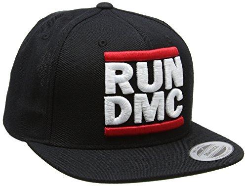 Mister Tee Run DMC Logo Snapback Chapeaux Unisex-Adult, Black, One Size