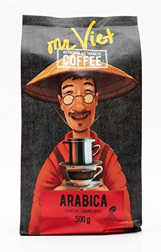 Mr Viet Arabica Kaffee Gemahlener Geröstet Mit Frischer Vietnamesischer Mischung Passend Für Alle Kaffeemaschinen 500g