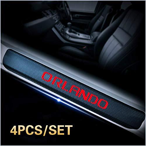 4 stücke Auto Vinyl Aufkleber Carbon Einstiegsleisten Türverschleiß Einstiegsleisten Schutz Für Chevrolet Orlando Auto Auto Teile Zubehör