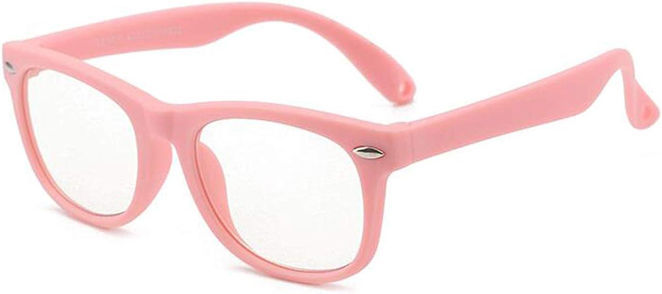 MAXJULI Kids Blue Light Blocking Glasses-TR90 Square Flexible Eye Glasses Age 1-15 6612