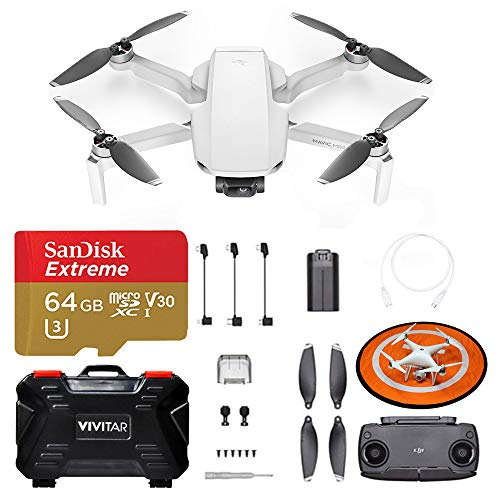 DJI Mavic Mini S Drone Quadcopter | Landing Pad | SanDisk 64GB Extreme Micro SD Card + Adapter | SD Card Case - Accessory Kit