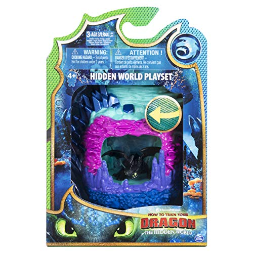 Dragons 6046846 - Movie Line - Hidden World Playset (Dragon Lair) - Ohnezahn (Solid), Spielset Mystery Dragons, mit Licht, Drachenzähmen leicht gemacht 3, Die geheime Welt