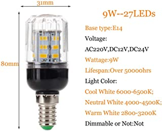 Vela de baja energía ahorro Bombilla CFL Luz Cálida 7w = 35w Rosca Edison es E14