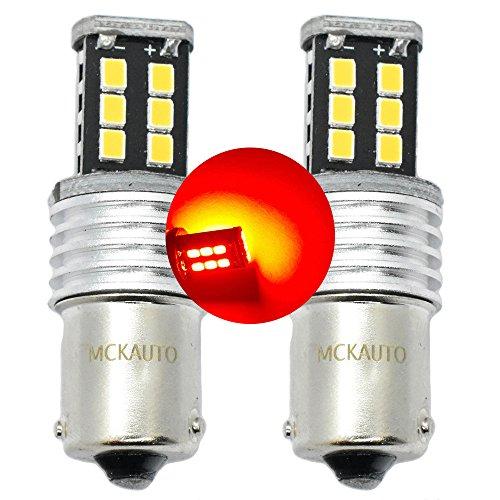 MCK Auto - Remplacement pour P21W LED CanBus Ensemble d'ampoules rouges très claires et sans erreur compatibles avec A3 A4 F30 F31