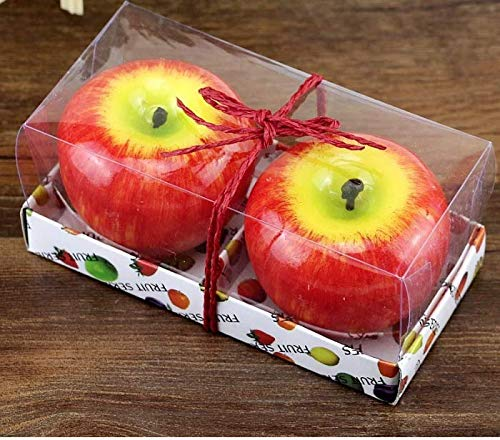 Red Apple-shaped-candle (2 Pc)