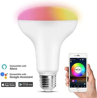 HAODENG WIFI スマート LED電球 RGBW(1600万色+電球色+昼光色 )AlexaとGoogle Homeで使用 80W相当 E26口金 非常灯 玄関灯 家電照明 超省エネライト 調光調色ランプ ワイヤレス APPコントロール 目覚め タイマー機能