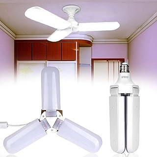 Zoternen E27 Luz LED de Techo Plegable 45 W Luz de la Lámpara del Ventilador Luz de Garaje,6500 K Blanco Frío
