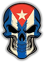 Cuba Flag Skull Alta Calidad De Coche De Parachoques Etiqueta Engomada 10 x 12 cm