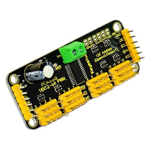 keyestudio 16 Kanal 12 Bit PWM Servomotortreiber Board Modul Drive Controlle Servomotor Treiberplatine für Arduino MEGA260 R3