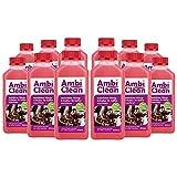 AmbiClean® Flüssig-Entkalker für Kaffeevollautomat, Kaffee-Maschine, Wasserkocher etc. | 100% Natürlicher Kalk-Reiniger - 12 x 250ml