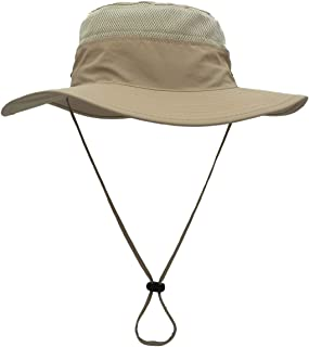 Muerkai Outdoor Sun Hat for Men and Women, Wide Brim Bucket Summer Hat with Sun Protection, Packable Breathable Boonie Hat for Fishing, Hiking, Safari, Boating