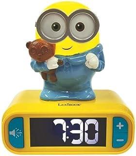 Lexibook - Minions digitale wekker voor kinderen met nachtlampje Snooze en Geluiden, kinderklok, lichtgevende Bob - Geel /...