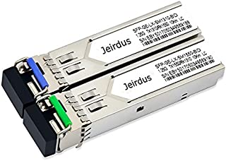 for Ubiquiti UF-SM-1G-S 1.25G SFP Module BIDI WDM Transceiver 10-20KM Simplex LC 1310/1550nm (1Pair)