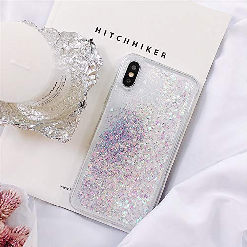 KKAAVV Funda Liquid Glitter Quicksand para Huawei P30 P20 Mate 30 20 10 Lite Pro Honor V10V20 8X Nova 6 5 5i 6E Funda Dynamic Liquid Cover, Blanca, para Mate 20 Pro