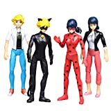 Yhkjkjiswv Miraculous Ladybug Spielzeug Figuren Anime Spielzeug Kunststoff-Figur Spielzeug Modell...