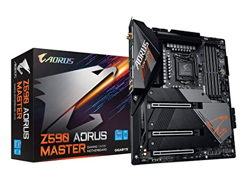 GIGABYTE Z590 AORUS Master (LGA 1200/Intel Z590/ATX/Triple M.2/PCIe 4.0/USB 3.2 Gen2X2 Type-C/Intel WiFi 6E/AQUANTIA 10GbE LAN/Gaming Motherboard)