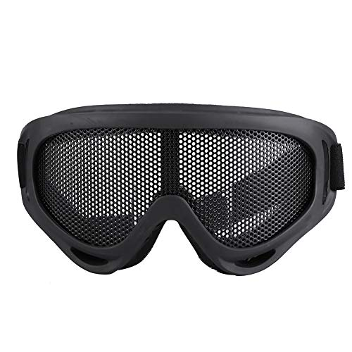 Weikeya Apropiado táctica Mirada sorprendida, Arena Partículas 17.5 * 8cm Metal Malla Motocicleta Gafas de protección Planchar