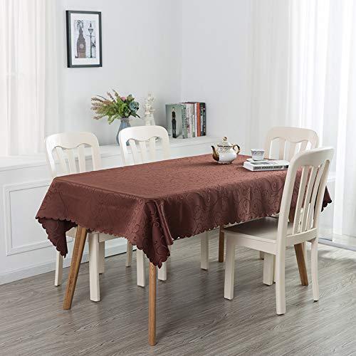 xiaopang Mantel con diseño de borlas, lavable, ovalado, algodón, lino, rectangular, a prueba de polvo, decoración de mesa de café, jardín, 1,2 x 1,8 m