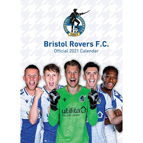 Bristol Rovers FC Official 2021 A3 Pirates Football Wall Calendar Published by Global Merchandising