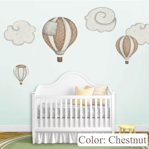 Wonderful Balloon Stickers Nursery Chestnut